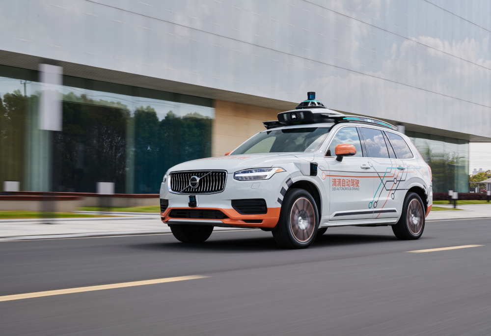 O protótipo de um SUV sem motorista sendo testado na Suécia